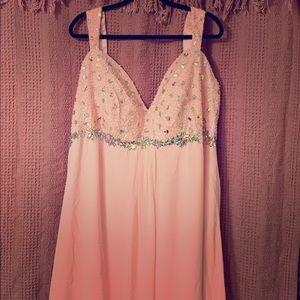 Beautiful Bejeweled Pink Prom Dress